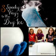 Three dry ice science projects that are bubbling, boiling and oozing potions to light up your Halloween party or fall festival.