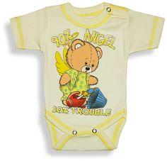 Kojenecké body - krátky rukáv, ANGEL http://www.milinko-oblecenie.sk/detske-body-dupacky-overaly/  #detskebody #kejeneckebody