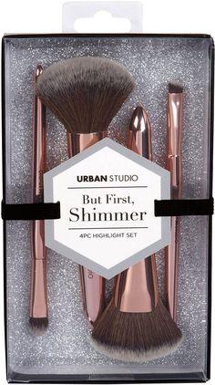 ROSE GOLD Highlighter Brush, Brow Brush, Concealer Brush, Fan Brush, Brush Sets, Tool Design, The One, Highlights, Eyeshadow