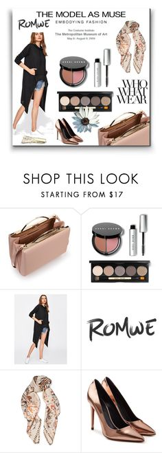 """""""romwe"""" by amelly5-1 ❤ liked on Polyvore featuring Eddie Borgo, Bobbi Brown Cosmetics, Roberto Cavalli, Alexander Wang and Who What Wear"""