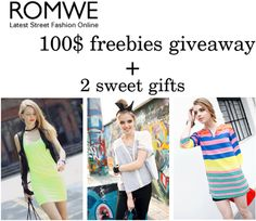 fashion in my eyes: Romwe GIVEAWAY, 100$ freebies + gifts