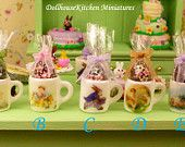 Easter Egg in Easter Mug - Dollhouse Miniature Food Handmade
