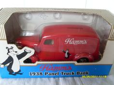 HAMM'S BEER 1938 CHEVY PANEL DELIVERY TRUCK $55