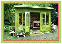 garden shed jewelry studio- I know this isn't a possibility right now- BUT I love it!!! Maybe someday!