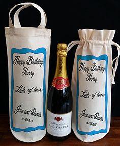 18., 21., 30., 40., 50., 60., 70., 80., 90., personalisierbar Geburtstag Flasche Tasche MAM, Schwester bag with handles