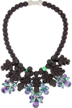 Ek Thongprasert | Silver-plated, silicone and cubic zirconia necklace | NET-A-PORTER.COM