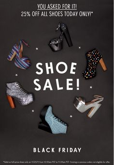 Black Friday Shoe Sale - Sale Product Email Blast Inspiration