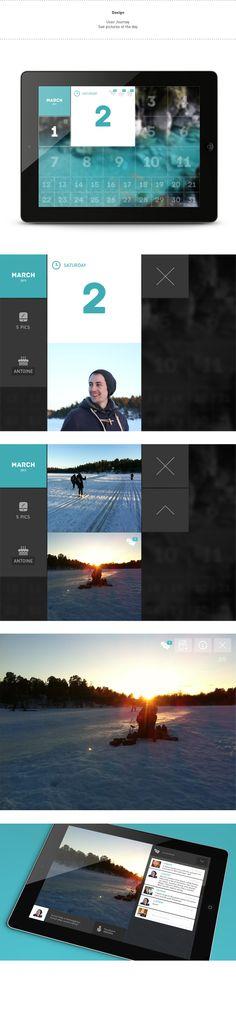 Family Pics by Clément Pavageau, via #Behance #Digital #UI #UX