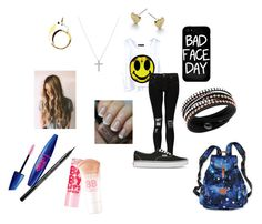"""First Day Back"" by pineappleexpressss ❤ liked on Polyvore featuring Boohoo, Vans, Local Heroes, Nadri, Michael Kors, Swarovski, Masquerade, Maybelline, OPI and Victoria's Secret PINK"