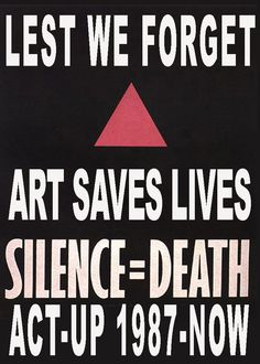 The 80's: ACT-UP Slogan Revisited! | ActivistArtistA