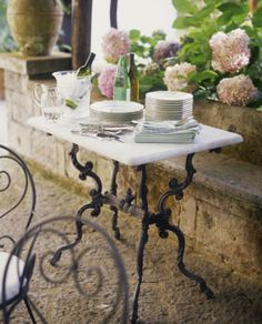 Outdoors small table