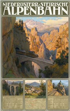 Niederösterreichisch-Steirische Alpenbahn (Lower Austria-Styrian Alpine Railway). Artist: Gustav Jahn