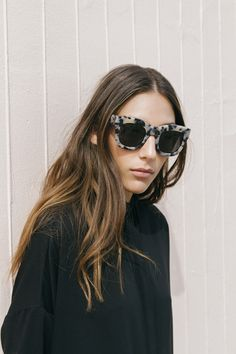 Hair: Long, center part, smooth and shiny locks with a bit of an easy going bend or wave. | Source: c-avallino, via Her New Tribe