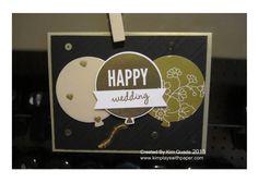 Stampin Up Celebrate Today stamp set balloon framelits birthday card
