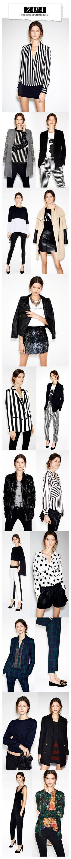 Zara Lookbook December 2012.