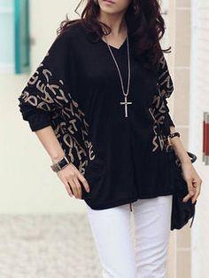 long sleeve printed chiffon shirt Shirts from fashionmia.com