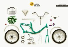 LX07 – Esmaltina Bicycle Renovation exploded view | Happy Bicycle Store