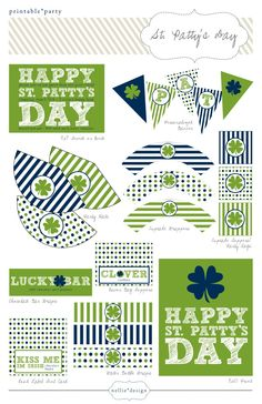 DIY Printable St. Patty's Day Party