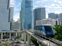 Ride the FREE Miami Metromover for a unique way to experience Miami