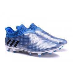 Nuevos Adidas X 16+ Purechaos FG AG Botas De Futbol Azul Plata dfcfcd1503fcc