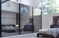 Mirrored slide door wardrobe