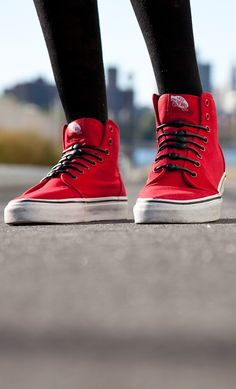 Classic red sneakers