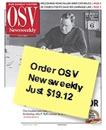 On May 5, 1912, Father John F. Noll published the first issue of Our Sunday Visitor newspaper. So we're celebrating in May with a special, THANK YOU price on OSV Newsweekly -- just $19.12 for a year's subscription.   http://osv.cm/J4UXDU