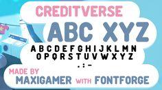 Creditverse Free Font, #Graphic #Design, #Free, #Resource, #Typeface, #Typography, #TTF, #OTF, #Sans_Serif