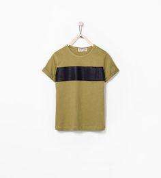 SINGLE STRIPE T-SHIRT WITH POCKET-T-shirts-Boy (3-14 years)-KIDS | ZARA United States