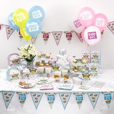 How cute is our brand new Little Owl's baby shower partyware?! Available for boys and girls #BabyShower #owlbabyshower #LittleOwls #boysbabyshower #girlsbabyshower #babyboy #babygirl