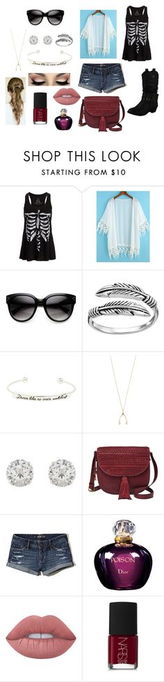 """MGI"" by nicole-hattery on Polyvore featuring Primrose, Topshop, Jennifer Meyer Jewelry, Accessorize, FOSSIL, Hollister Co., Christian Dior, Lime Crime and NARS Cosmetics"