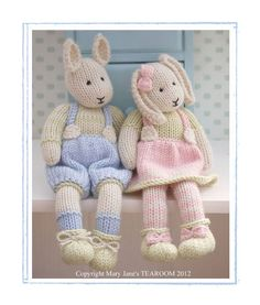 LILY & SAMUEL...Spring Baby Bunnies / 2 Pattern