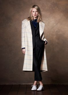 This pure wool checked cocoon coat can be worn season after season #britishmade