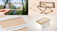 7.) An empty picture frame business card