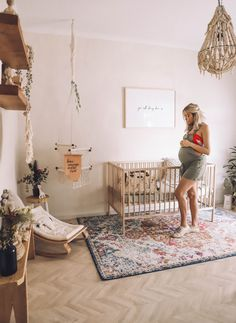 Bring your baby girl home to an adorable and functional nursery. Here are some baby girl nursery design ideas for all of your decor, bedding, and furniture. Boho Nursery, Nursery Room, Girl Nursery, Girl Room, Nursery Decor, Babies Nursery, Simple Baby Nursery, Whimsical Nursery, Ikea Nursery