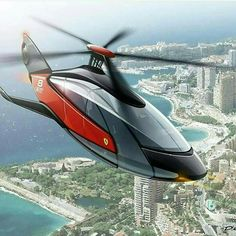 So Ferrari Is Considering Getting Into The Personal Transport Business. With The Image Of A High Speed, Exotic Material Helicopter! Jets Privés De Luxe, Luxury Jets, Luxury Boat, Luxury Private Jets, Luxury Yachts, Luxury Travel, Helicopter Private, Luxury Helicopter, Private Plane