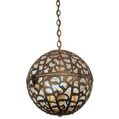 Japanese Brass Globe Fixture | From a unique collection of antique and modern chandeliers and pendants  at https://www.1stdibs.com/furniture/lighting/chandeliers-pendant-lights/