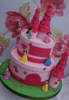 "Pink Princess Castle Cake | Moo ""I like this one please"" we may have a winner!"