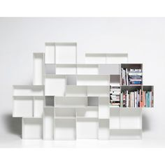 Oh gosh you could fit every size book you own on a shelf like this and it would be perfectly organized and nothing would hurt.