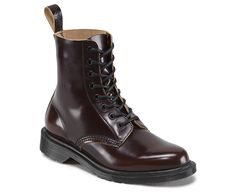 Dr. Marten PASCAL MERLOT / Brown 16072600 *Pascal uses a high shine, superior quality Portuguese Boanil Brush Leather. This rub-off leather