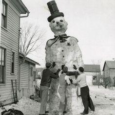 Giant snow man