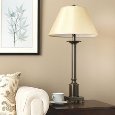 Shop for Copper Grove Antique Bronze-finished Metal Traditional Column Table Lamp. Get free delivery On EVERYTHING* Overstock - Your Online Lamps & Lamp Shades Store! Get in rewards with Club O! Tall Lamps, Large Lamps, Industrial Dining Chairs, Fabric Lampshade, Lamp Shade Store, Gold Table, Cool Floor Lamps, Furniture Styles, Fabric Shades