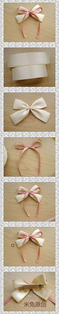 white and pink bow