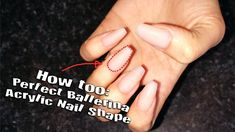 How Too | Ballerina or Coffin Nail Shape | Acrylic Nail