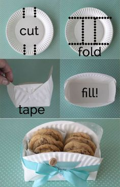 42 Craft Project Ideas. But, easy paper plate gift box for cookies/sweets