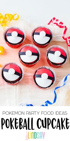 Create easy and delicious Pokemon Cupcakes by making your own Poke Ball Cupcakes. Perfect for any Pokemon party and delicious party favor. Easy store-bought cupcakes decorated with fondant to create the best Pokemon Cakes. Pokemon Cakes, Pikachu Cake, Pokemon Birthday, Pokemon Party, 9th Birthday, Pokeball Cupcakes, Store Bought Frosting, Frosting Tips, Vegetarian Cake