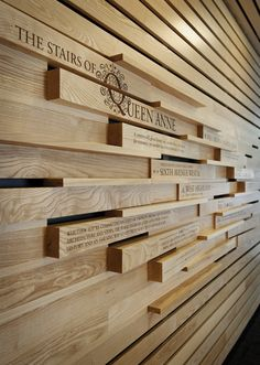 Donor wall concept - Environmental graphics by Chad Evans, via Behance Environmental Graphic Design, Environmental Graphics, Wayfinding Signage, Signage Design, Donor Wall, Timber Slats, Modernisme, Wall Installation, Wall Cladding