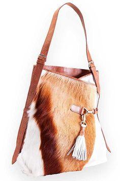 Kulu Springbok Fienn Bag Fashion Handbags, Tote Handbags, Purses And Handbags, Cowhide Bag, Cowhide Leather, Leather Purses, Leather Handbags, Leopard Bag, Wallet With Coin Pocket