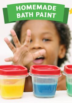 Make a mess without the stress with homemade bath paint!