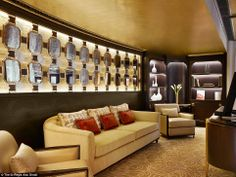 And relax ...  The Abu Dhabi Suite combines contemporary design with a traditional Arabic ...